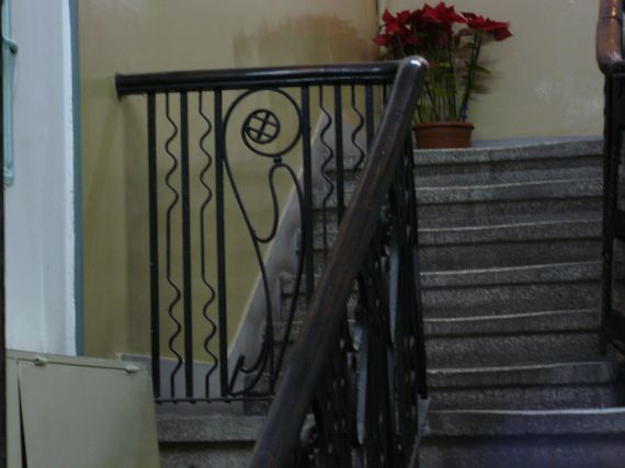 Art nouveau railings